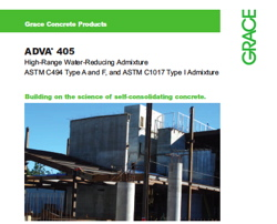 Grace introduces ADVA? 400 Admixture Series for Self Consolidating