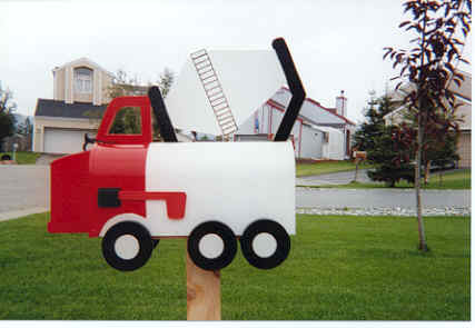 Photo of the day 39 concrete truck mailbox 39 aggregate for Car mailboxes for sale