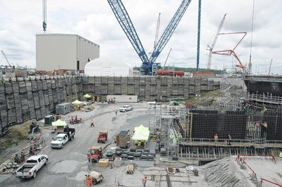 The reactor two site, shown here, recently was the first concrete pour for a nuclear power plant in the United States in 30 years.