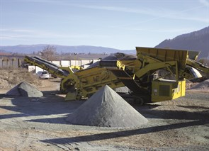 Keestrack's new H4 track-mounted cone crusher H4