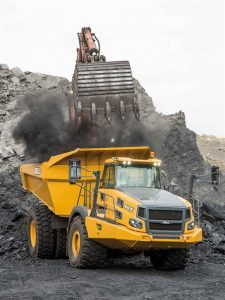 The design of the B60 dump body makes it easier to load with an excavator or wheeled loader says Bell