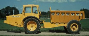 Volvo first marketed this four-wheel-drive articulated hauler in 1966 as a DR 631